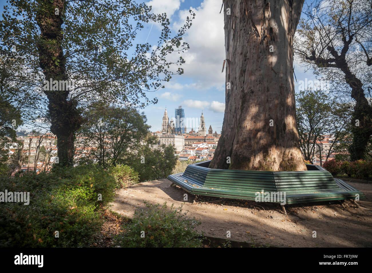 Parque de la Alameda. Santiago de Compostela. - Stock Image