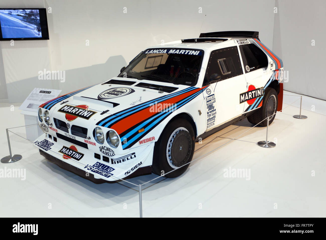 a lancia delta s4 group b rally car on display in the pinnacle of stock photo 100362051 alamy. Black Bedroom Furniture Sets. Home Design Ideas