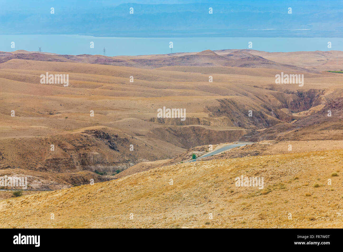 desert mountain landscape, Jordan, Middle East Stock Photo