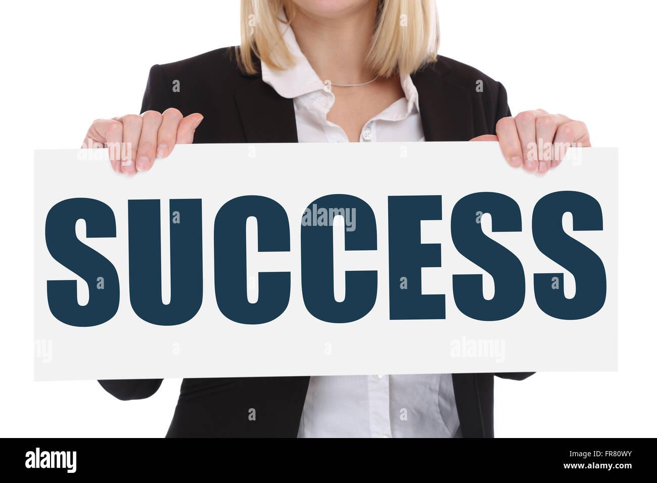Success successful growth finances career business concept leadership achievement - Stock Image