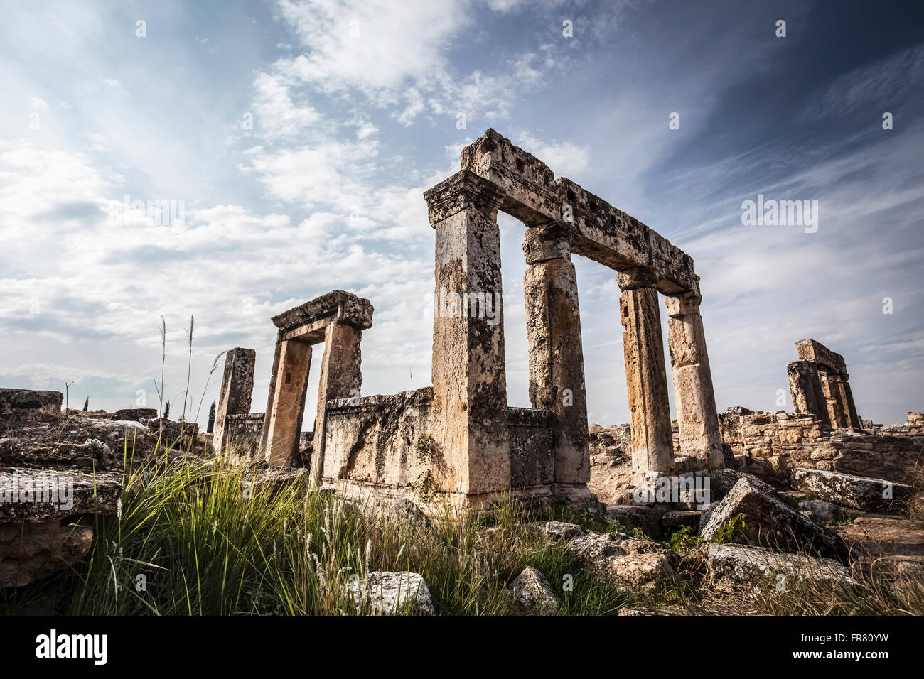 Greco-Roman ruins; Pamukkale, Turkey - Stock Image