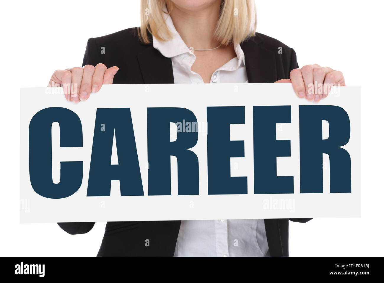 Career opportunities goals success successful and development business concept - Stock Image