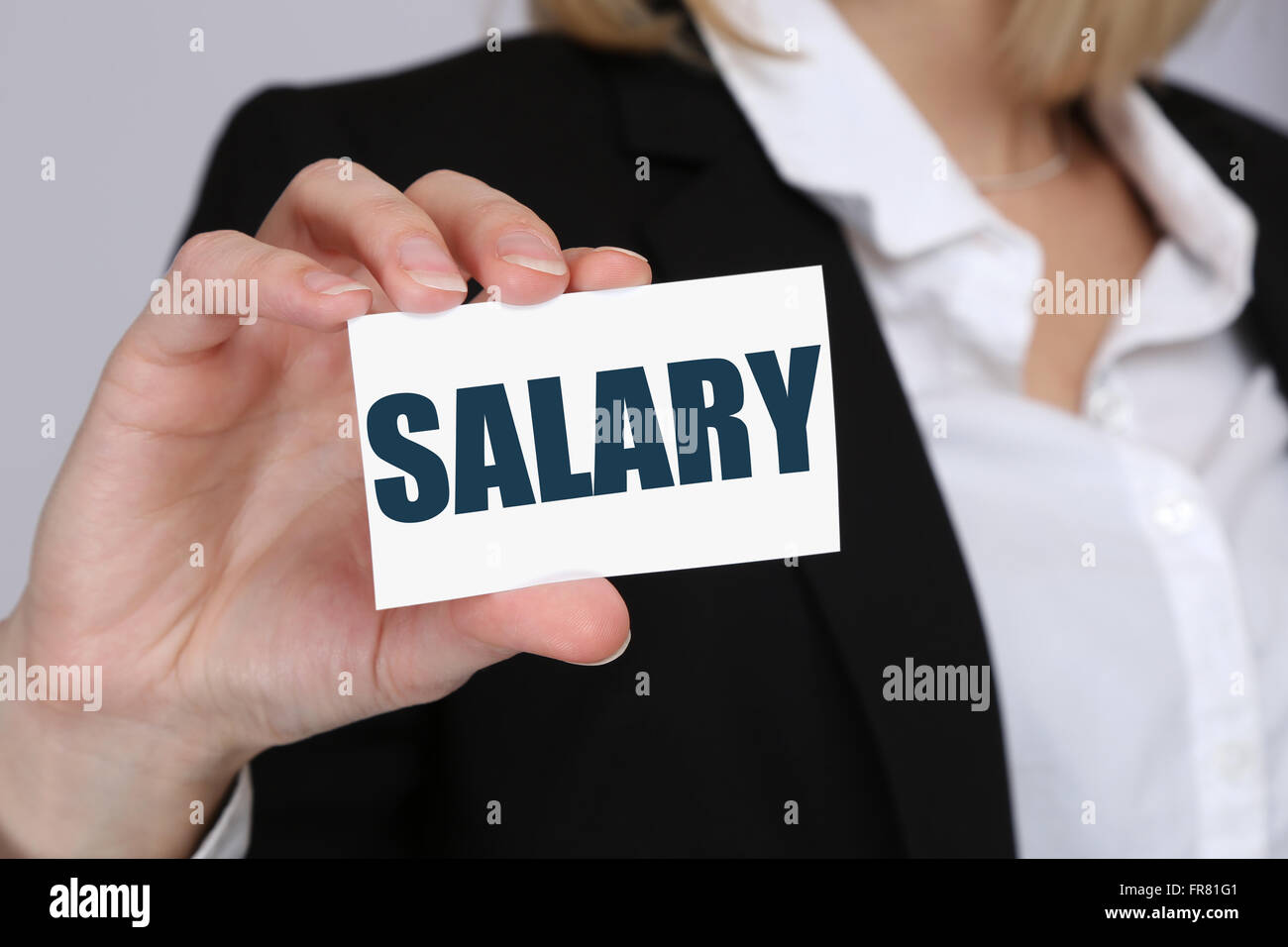 Salary increase negotiation wages money finance business concept boss employee - Stock Image