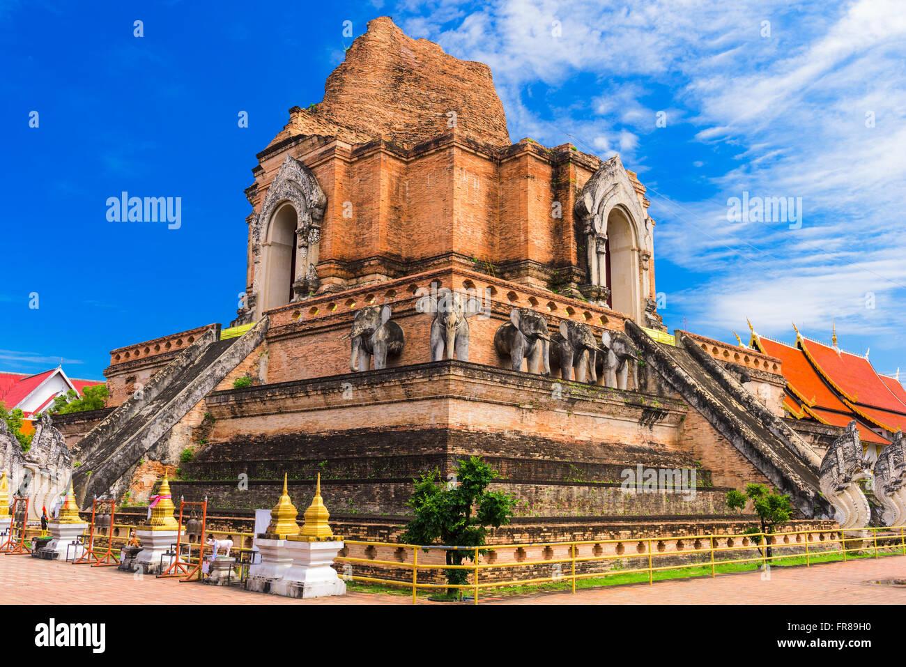 Chiang Mai, Thailand at Wat Chedi Luang. - Stock Image