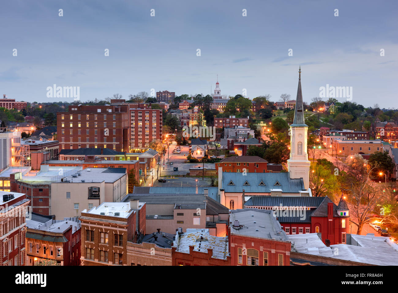 Macon, Georgia, USA downtown skyline. - Stock Image