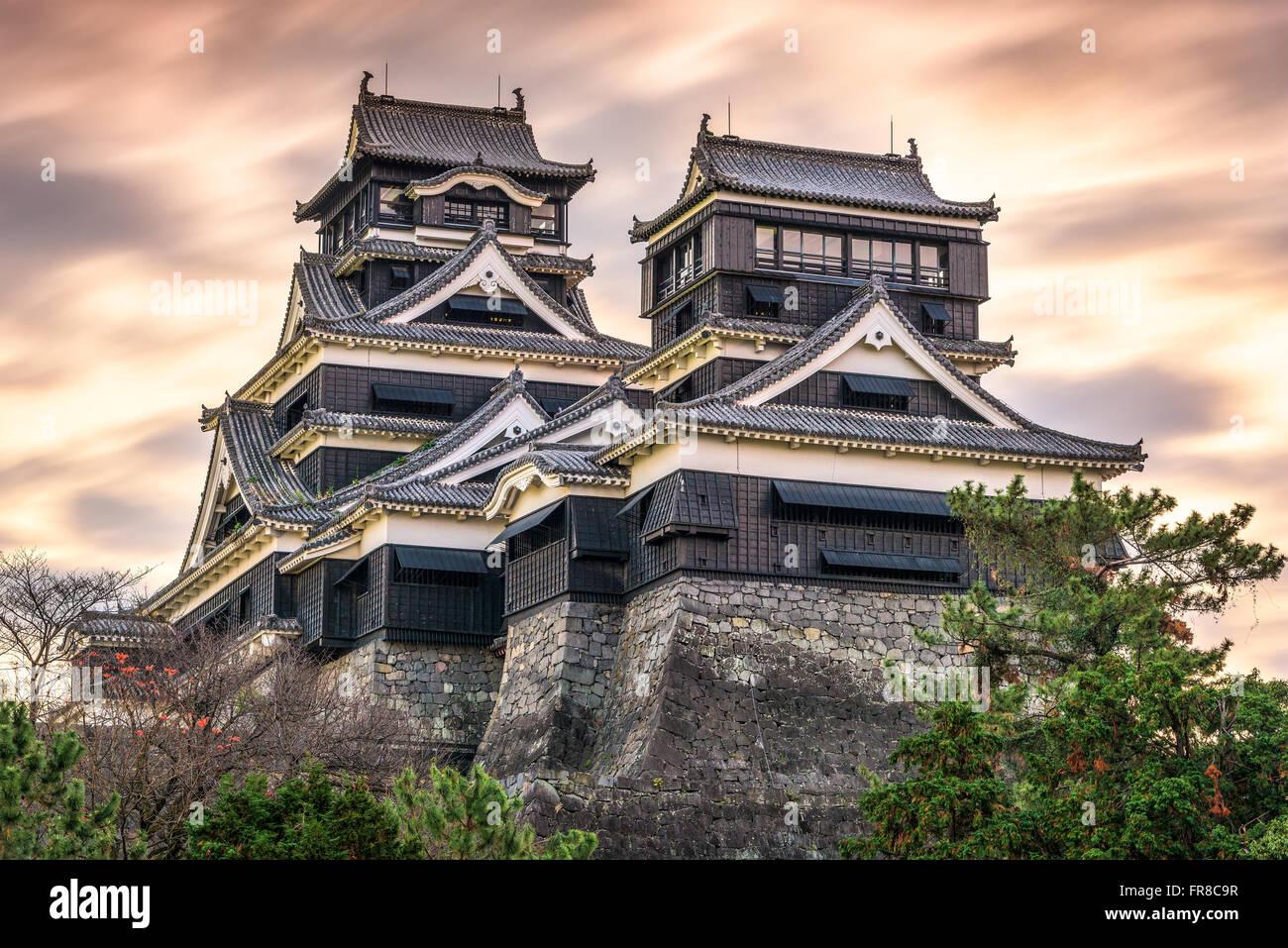 Kumamoto, Japan at Kumamoto Castle. - Stock Image