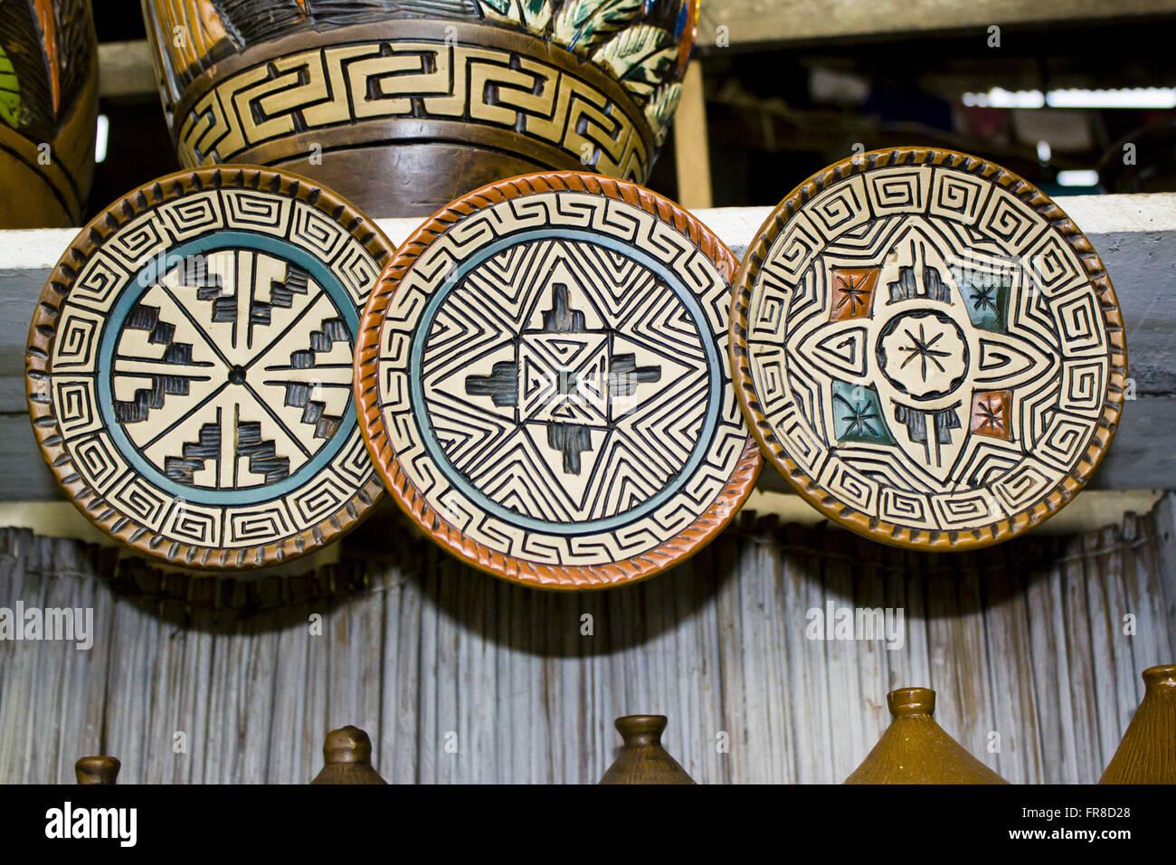 Ceramica marajoara - typical of the Amazon region - Stock Image