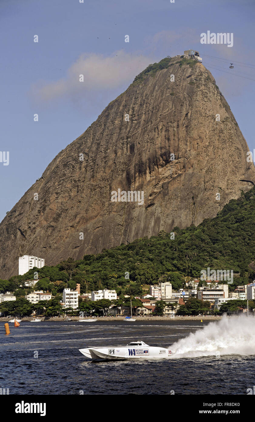 GP Brazil Class 1 powerboat in 2010 - held at Marina da Gloria - Flamengo Beach - Stock Image