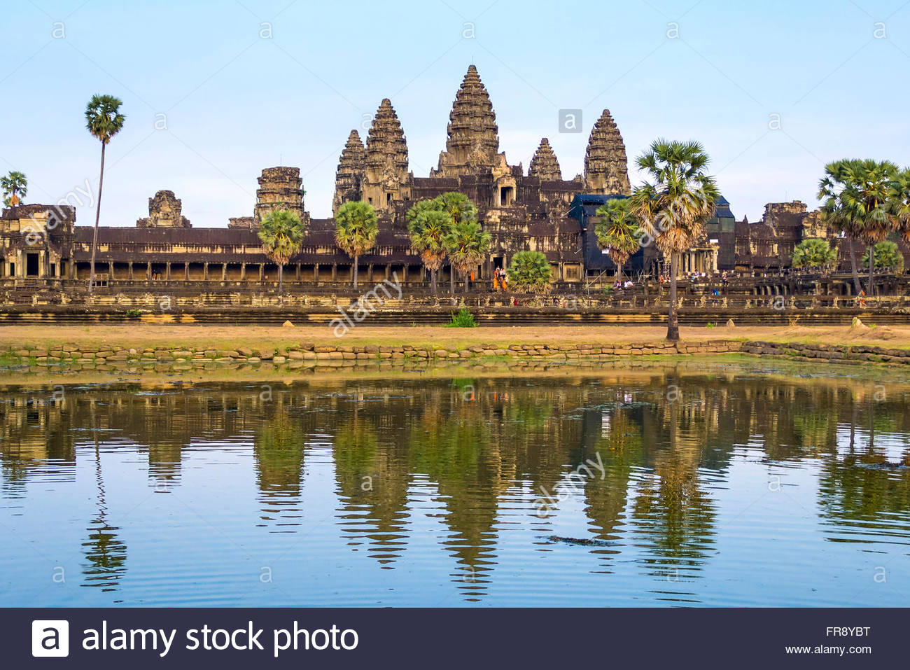 Angkor Wat, UNESCO World Heritage Site, Siem Reap Province, Cambodia - Stock Image
