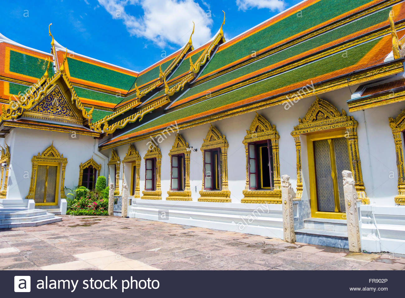 Phra Thinang Amarin Winitchai throne hall, Grand Palace complex, Bangkok, Thailand - Stock Image