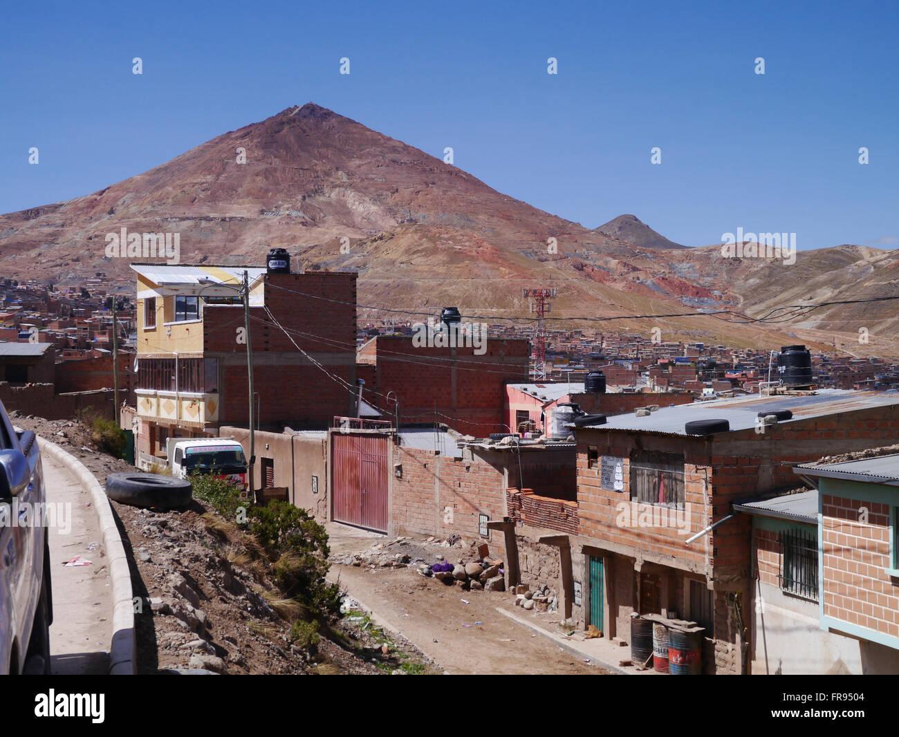Potosi Bolivia silver mountain - Stock Image