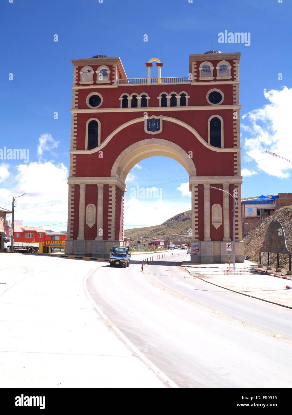 Entrance gate to Potosi, Bolivia - Stock Image