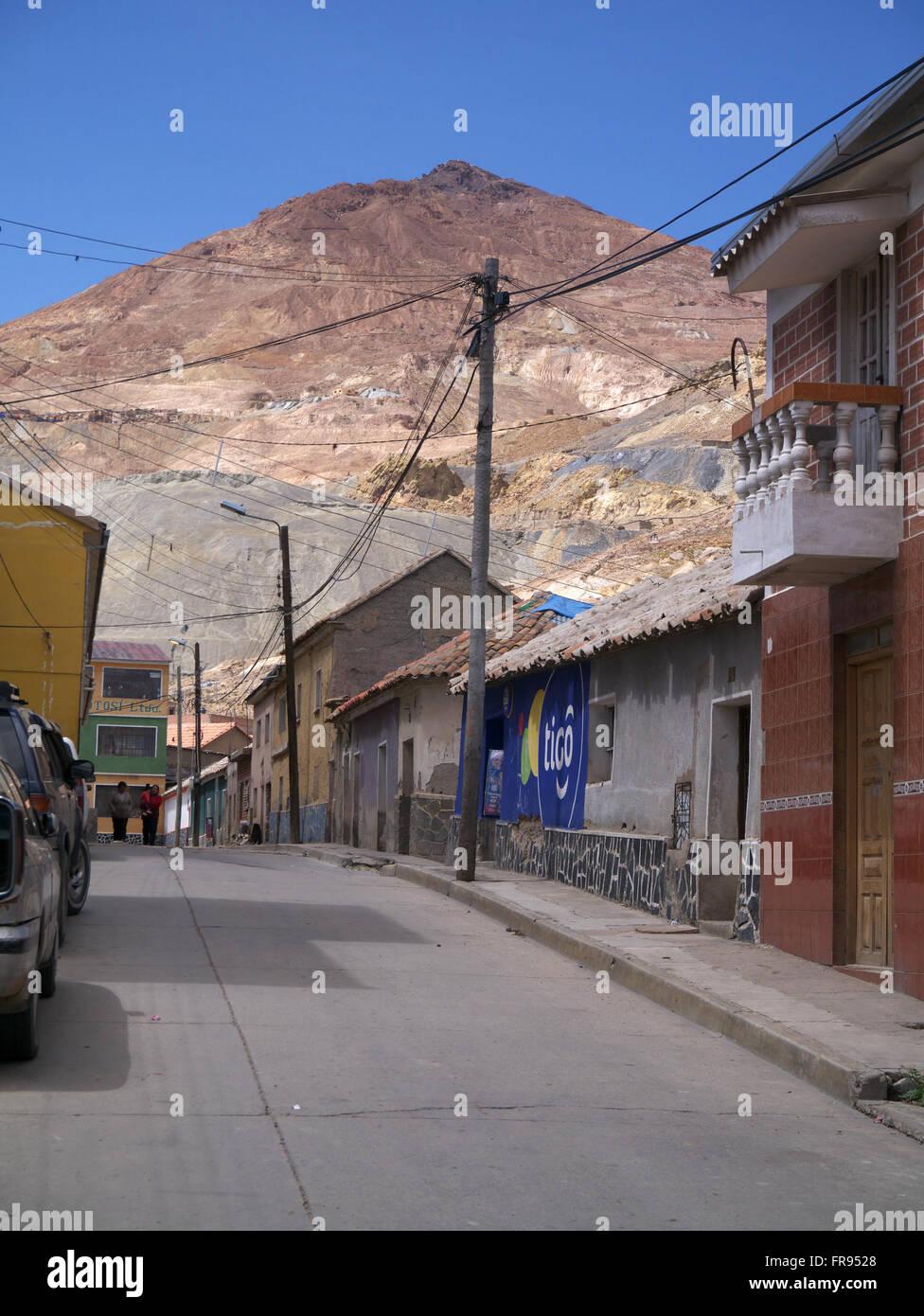 Potosi silver mountain - Stock Image