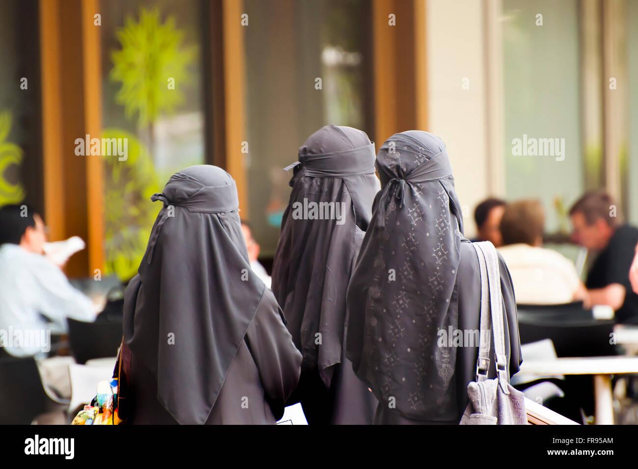 Muslim Women - Malaysia - Stock Image