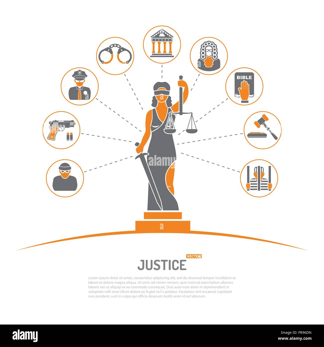 Lady Justice Concept Stock Vector Image & Art - Alamy