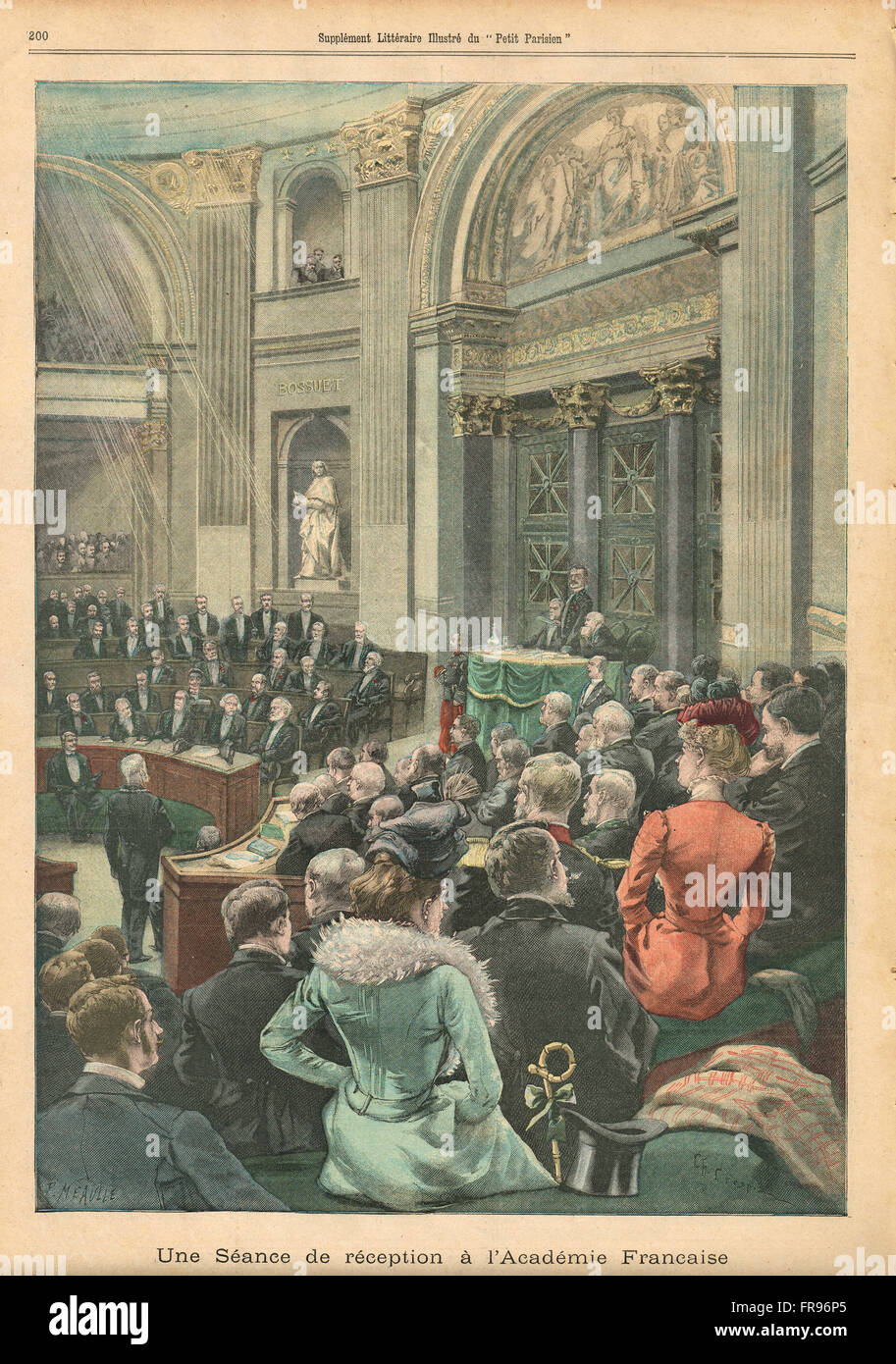 Meeting of the Academie Francaise 1900 - Stock Image