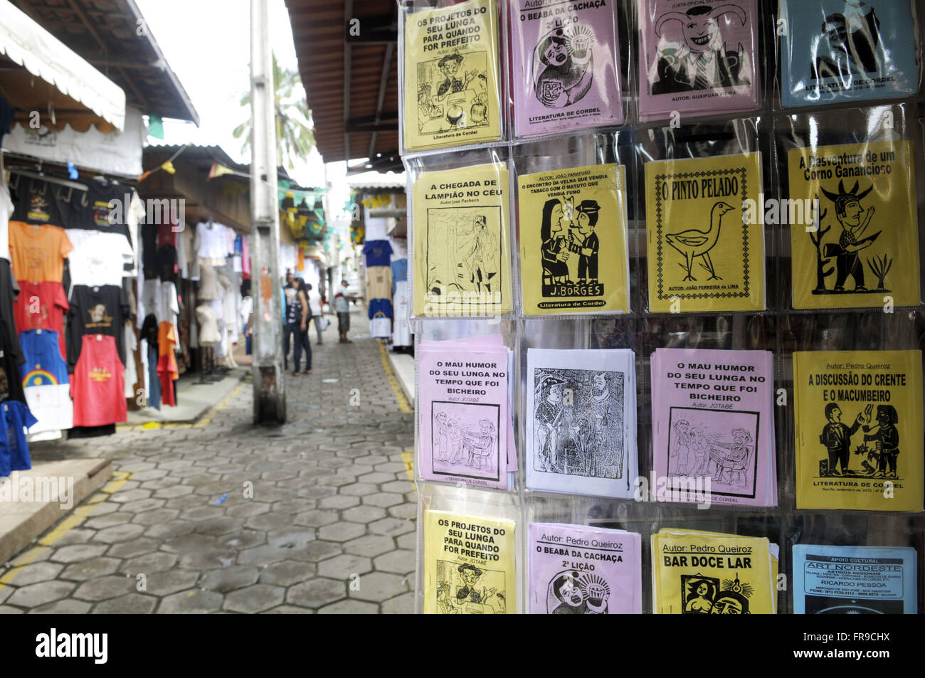 Brochures musical literature exposed for sale on Caruaru Fair - EP - Stock Image