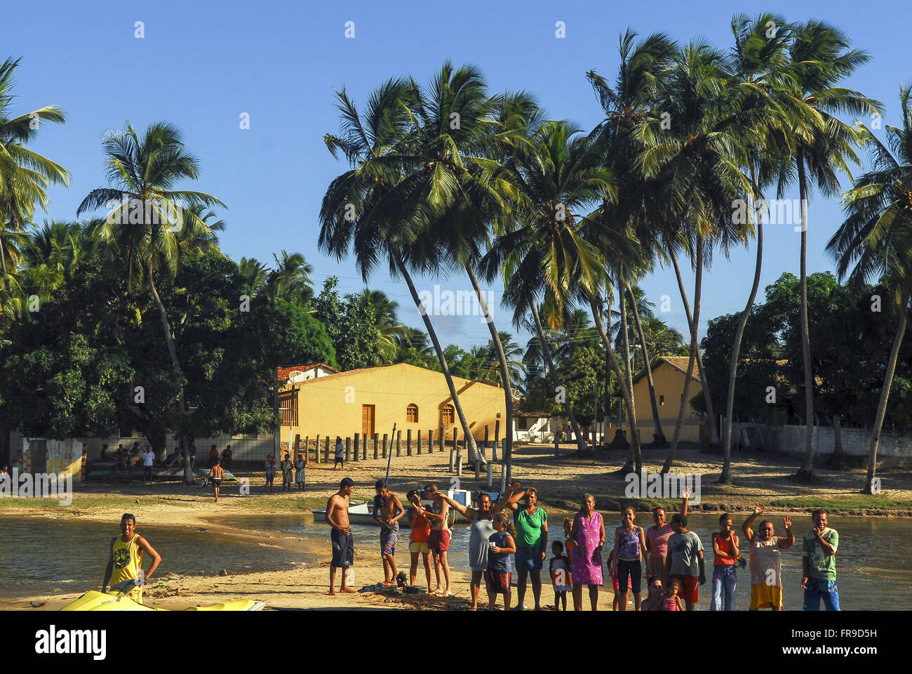 Local population during party Bom Jesus dos Navegantes - Stock Image