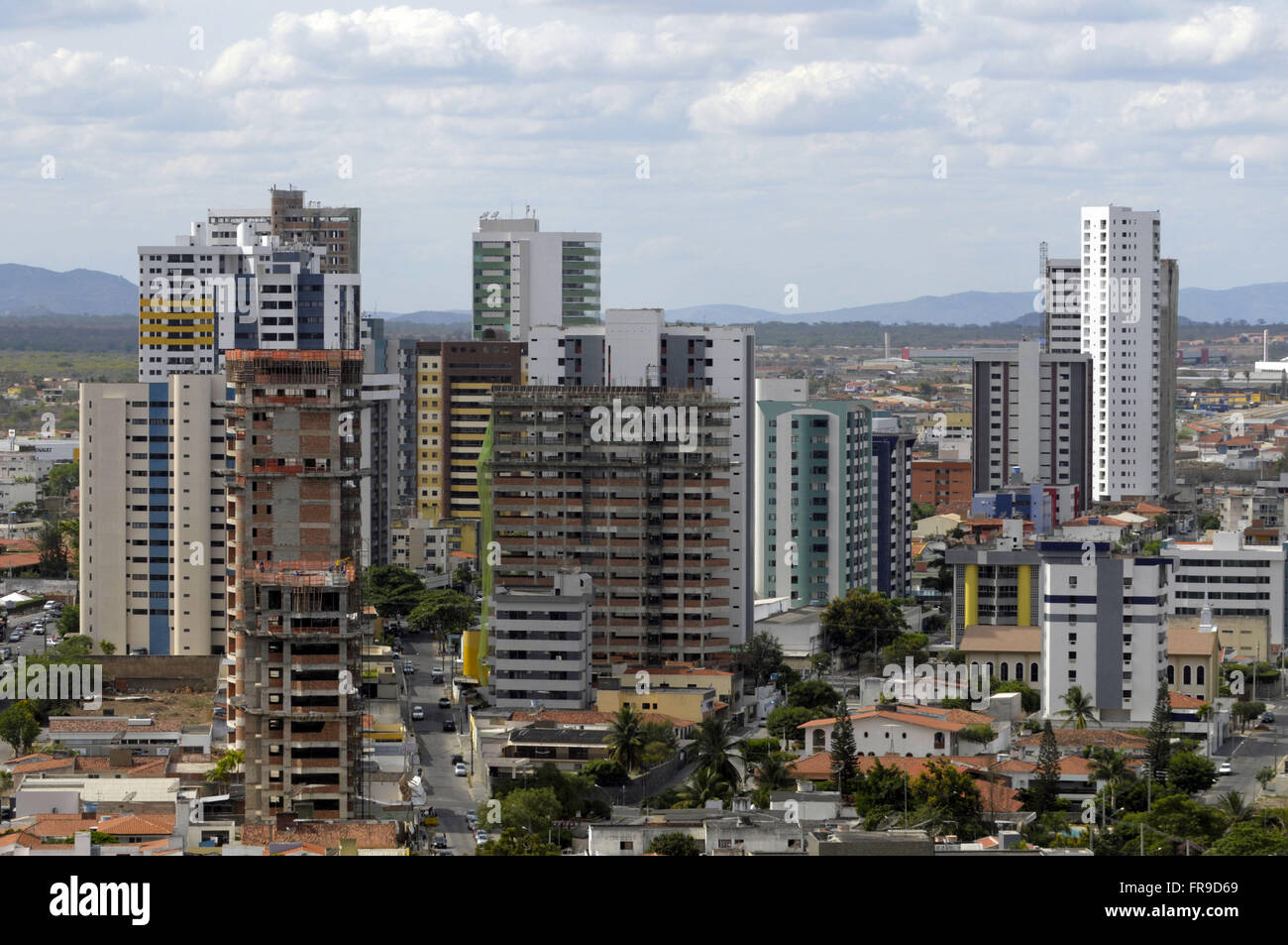 Visa upon Caruaru - residential building in the center - Stock Image