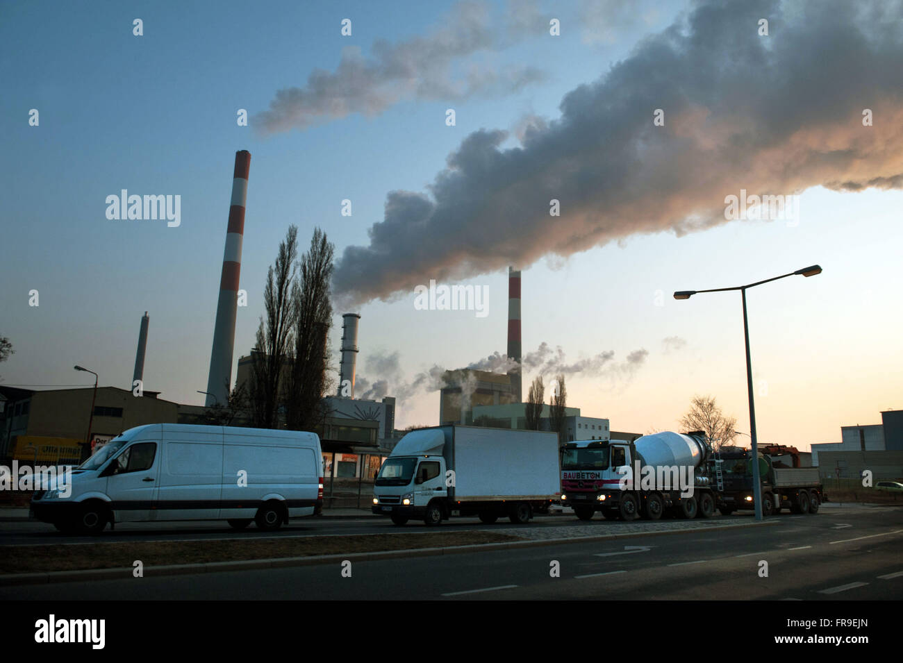 Factories in suburb - Vienna - Stock Image