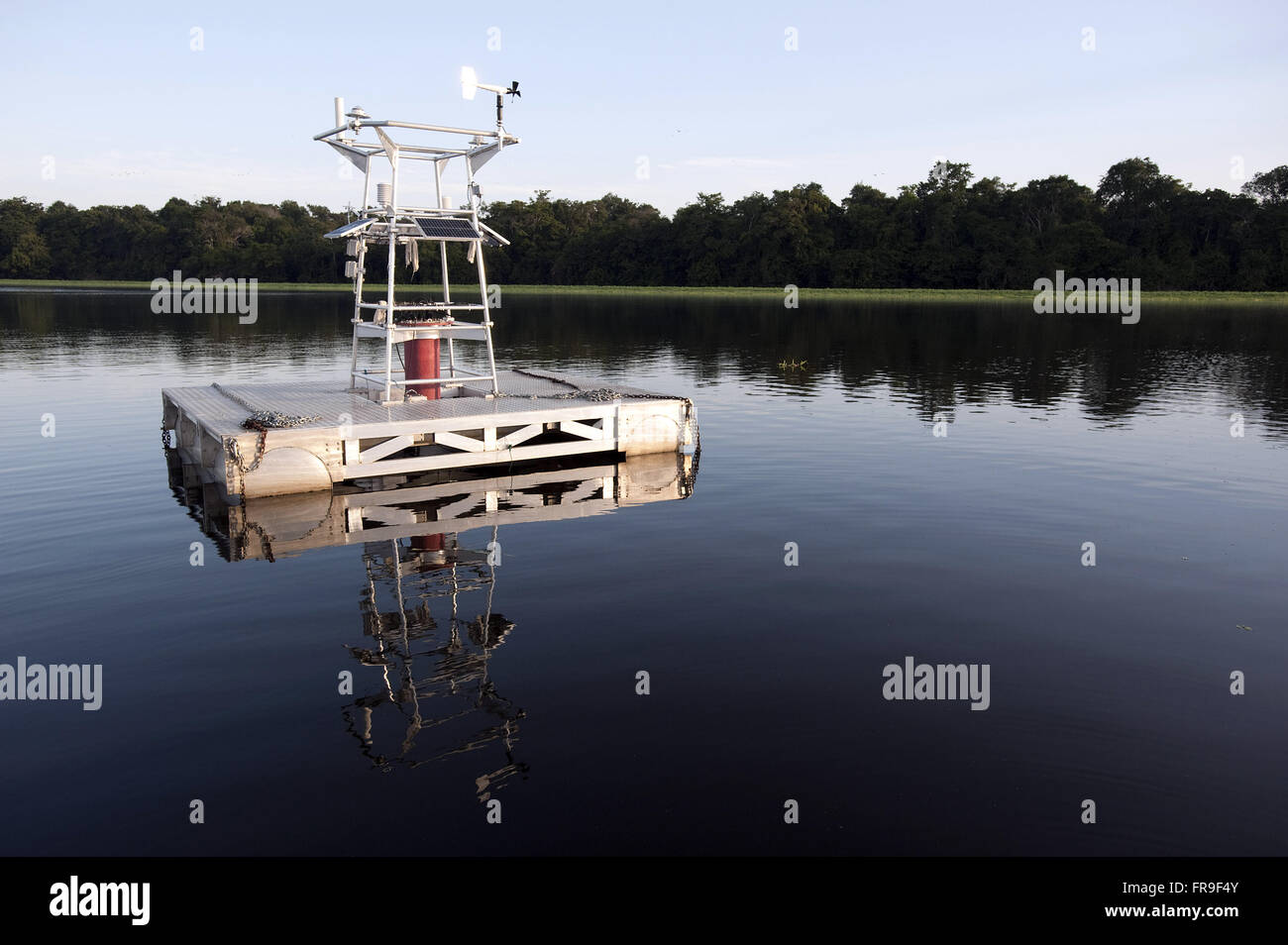 Meteorological station floating to the research - Stock Image