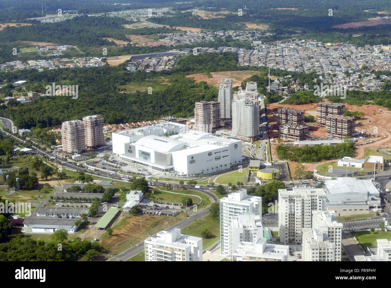 Aerial view of Ponta Negra urbanized - Stock Image