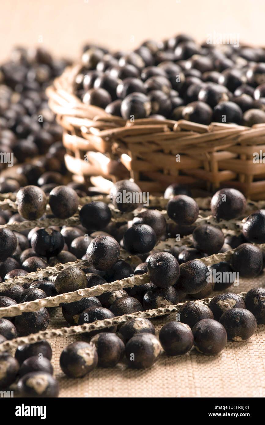 Fruits of the acai Amazon region - Stock Image