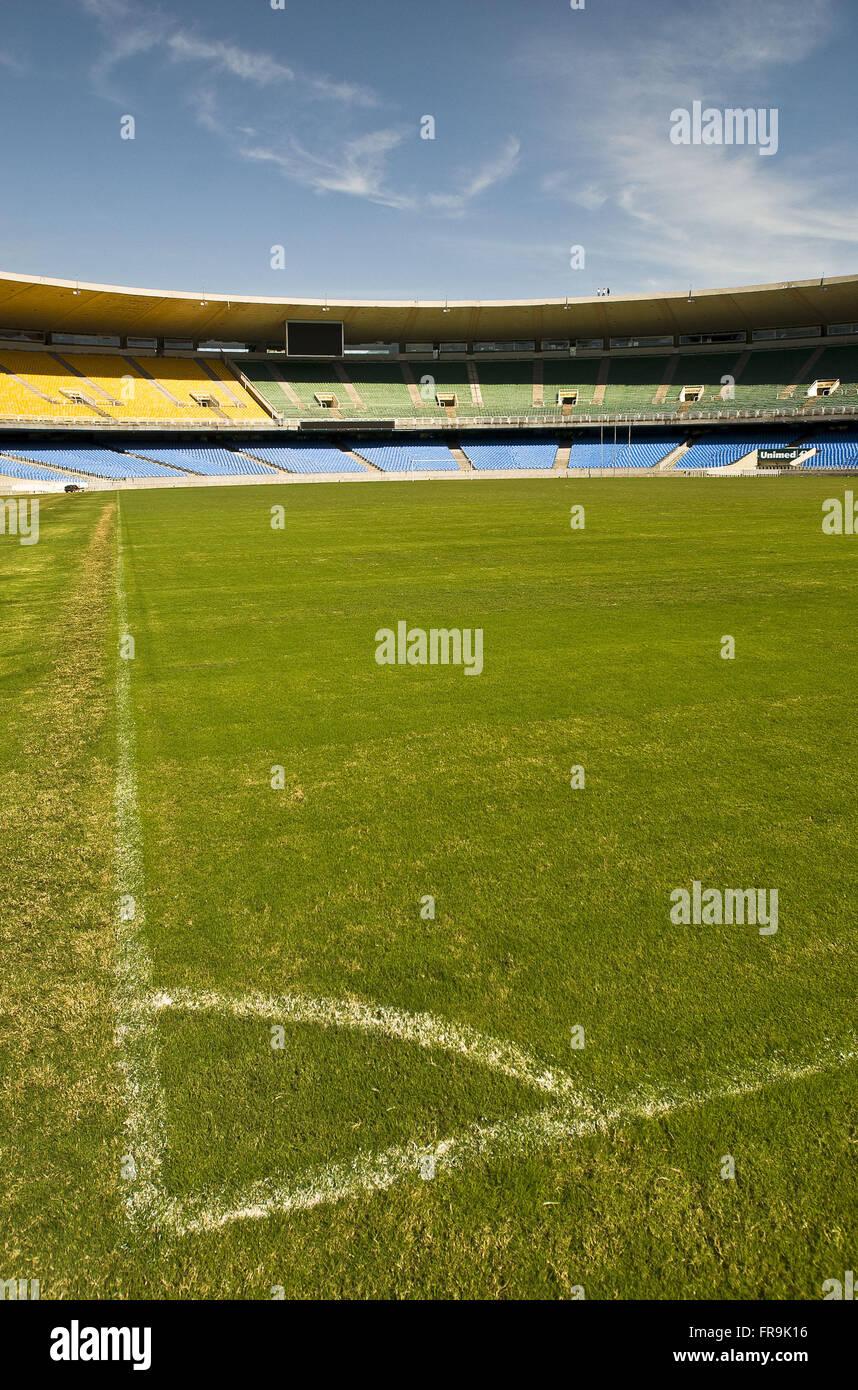 Estadio do Maracana - against lateral line to bottom line - Stock Image