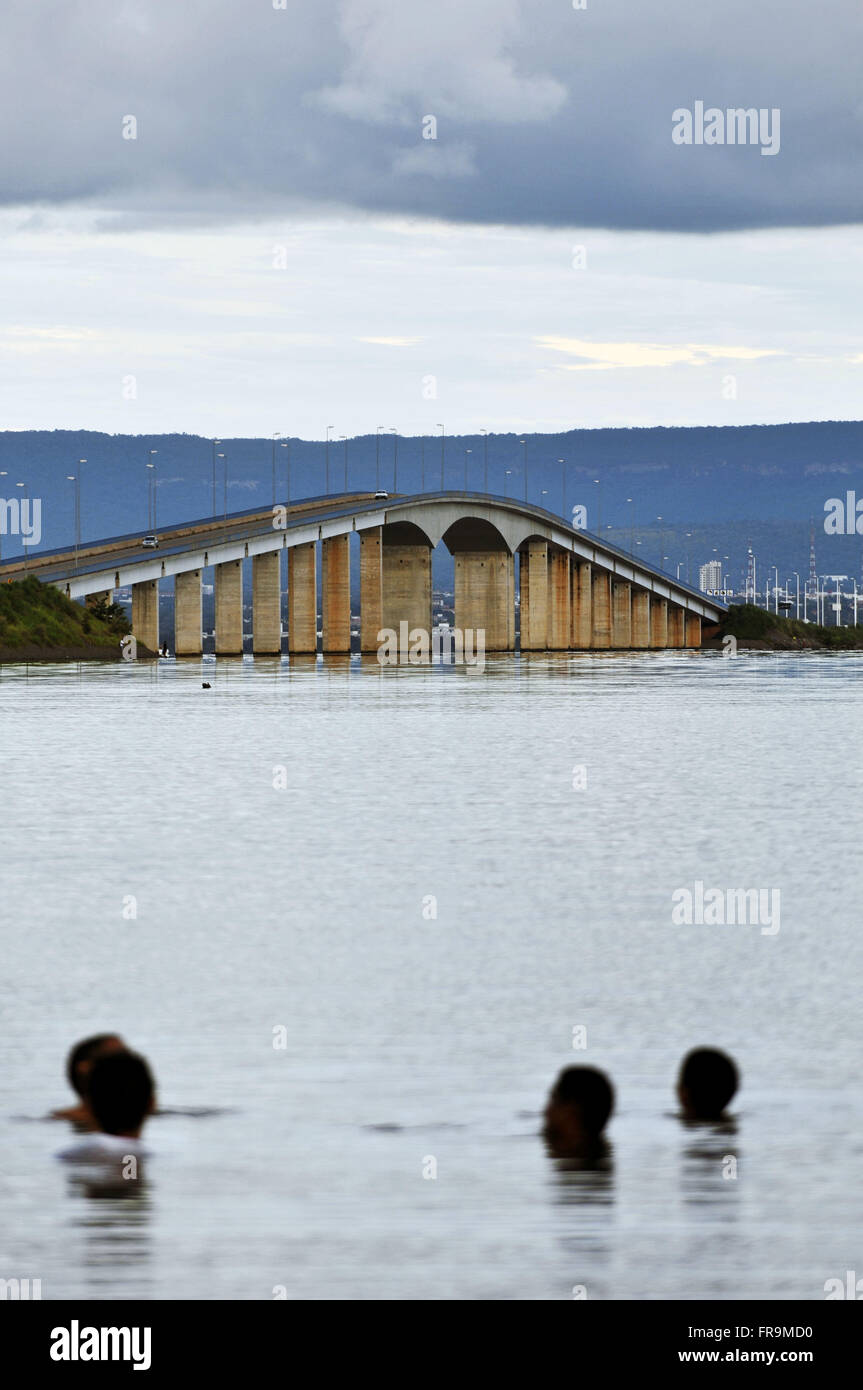 Cardoso Bridge of Friendship and national integration in the TO-080 - Stock Image