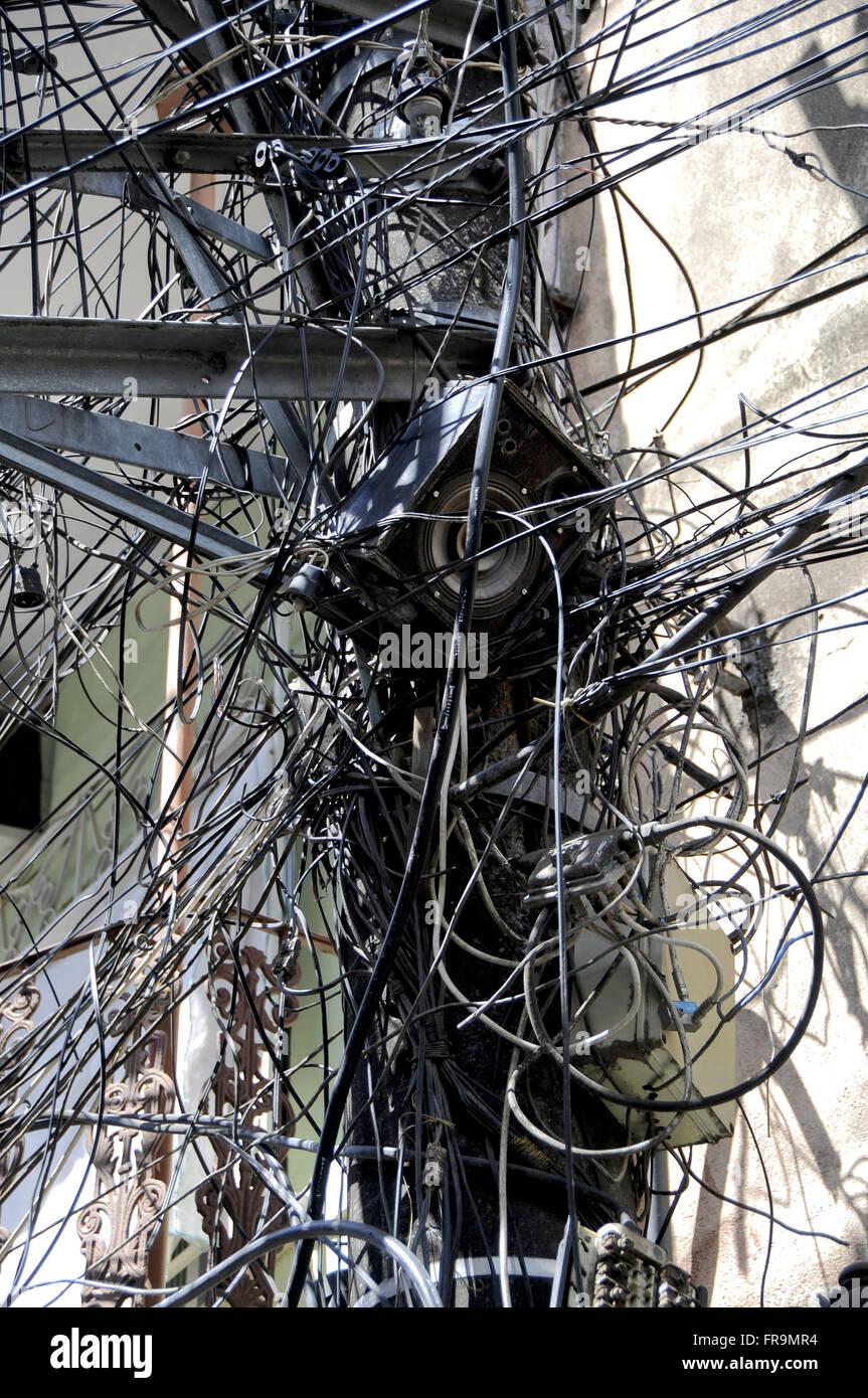 Underground wiring cat calls slum Complexo do Alemao Stock ... on underground wire in shorts, underground transmission, underground generator,