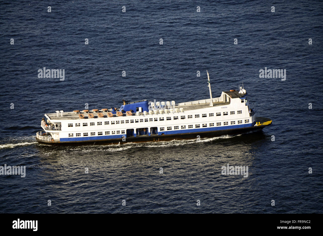 Barca making passenger service between Rio de Janeiro and Niteroi in Guanabara Bay - Stock Image