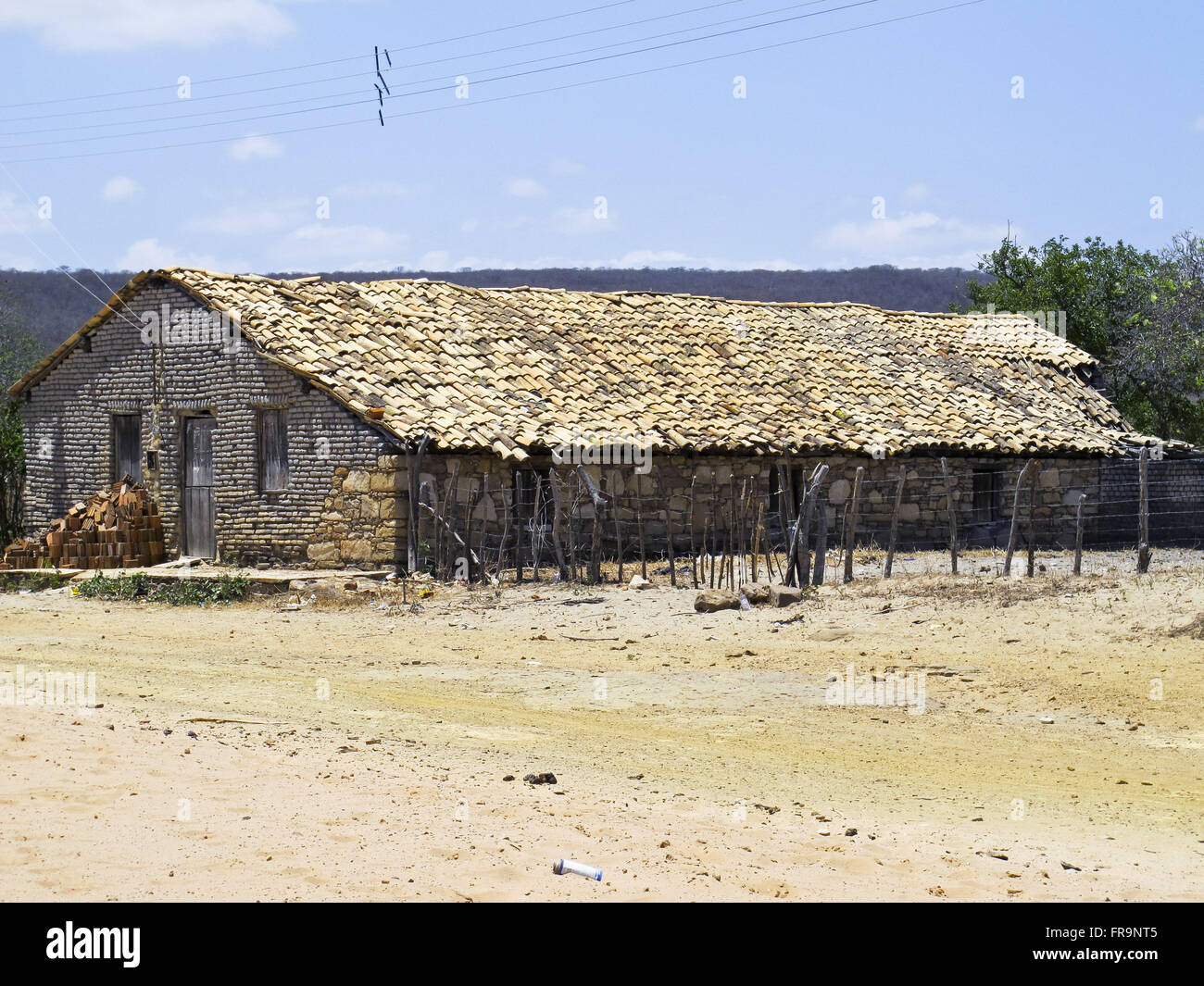 Masonry construction in the backlands of Ceará - Stock Image