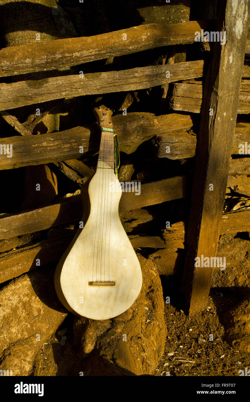 Viola-to-trough - the traditional musical instrument of cururueiros - Stock Image