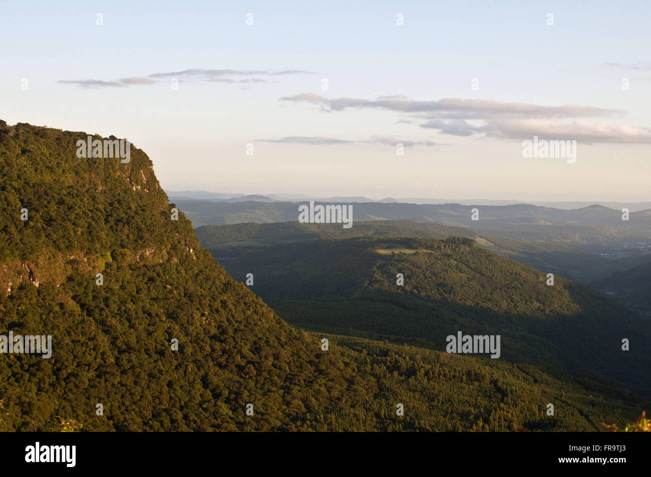 Quilombo Valley seen from the viewpoint of Stone Slab park in Canela - RS - Stock Image