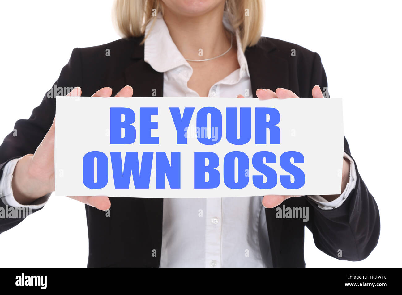 Self-employed self employed employment be your own boss business concept in office - Stock Image