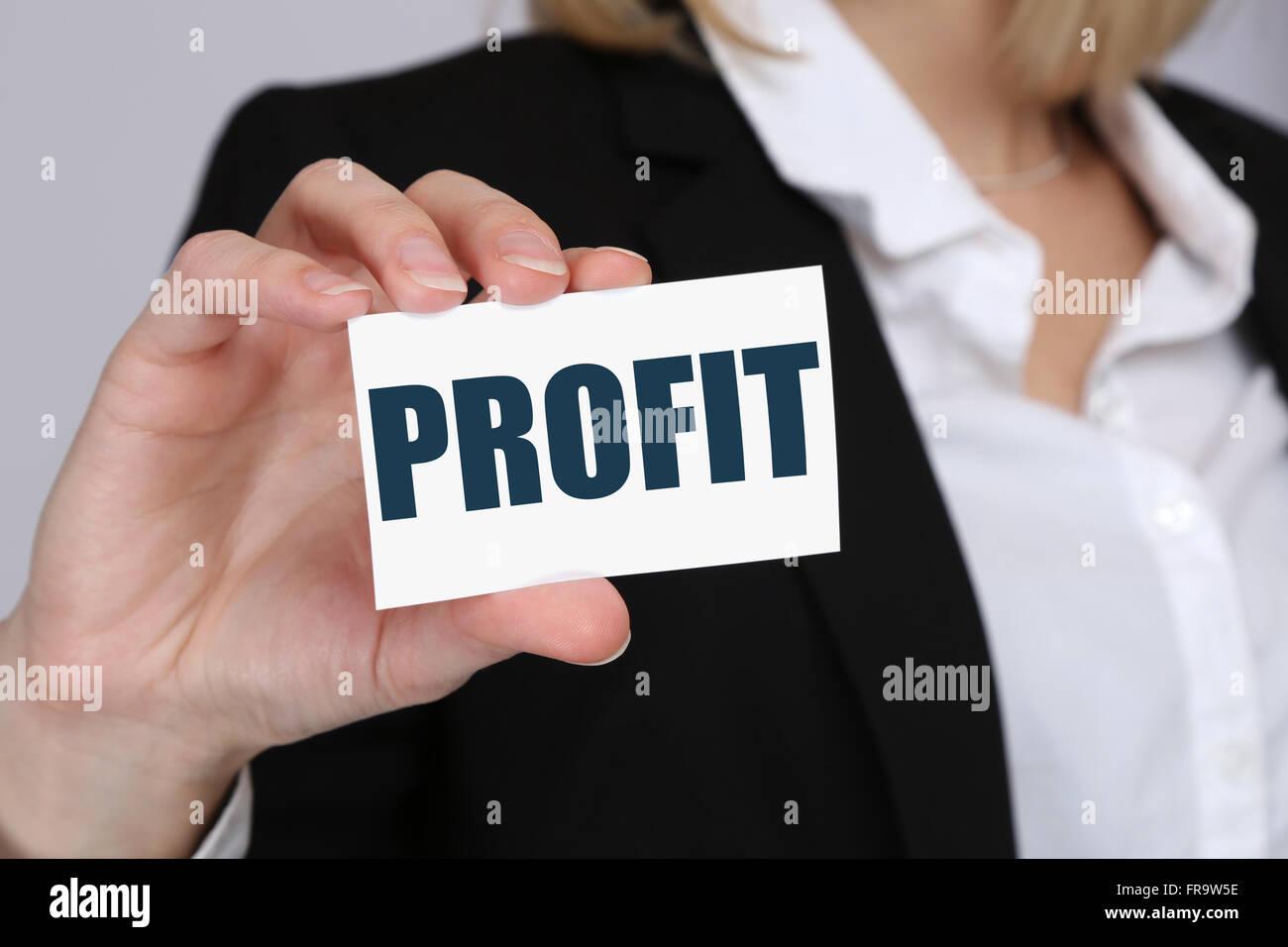 Profit leadership financial success business concept successful - Stock Image