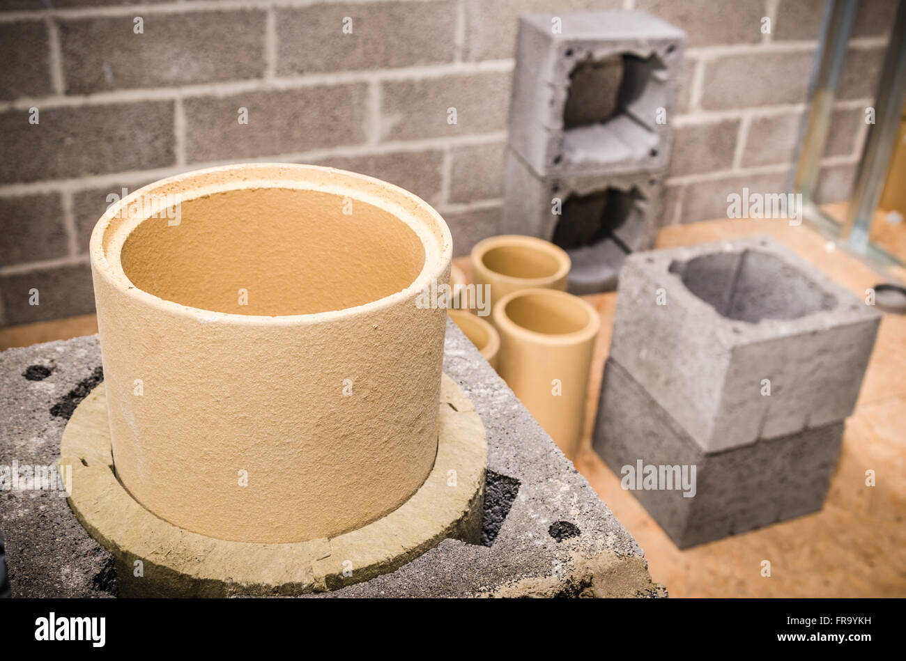 How a ceramic chimney is constructed: the specifics of the installation of a ceramic flue duct 8
