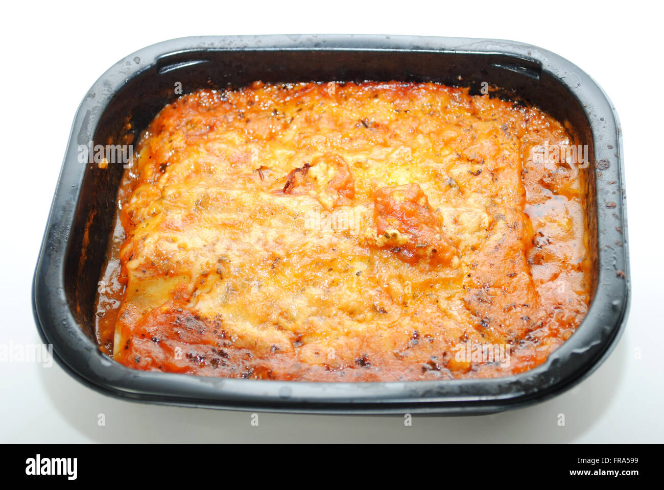 Microwaveable Pasta and Sauce TV Dinner - Stock Image