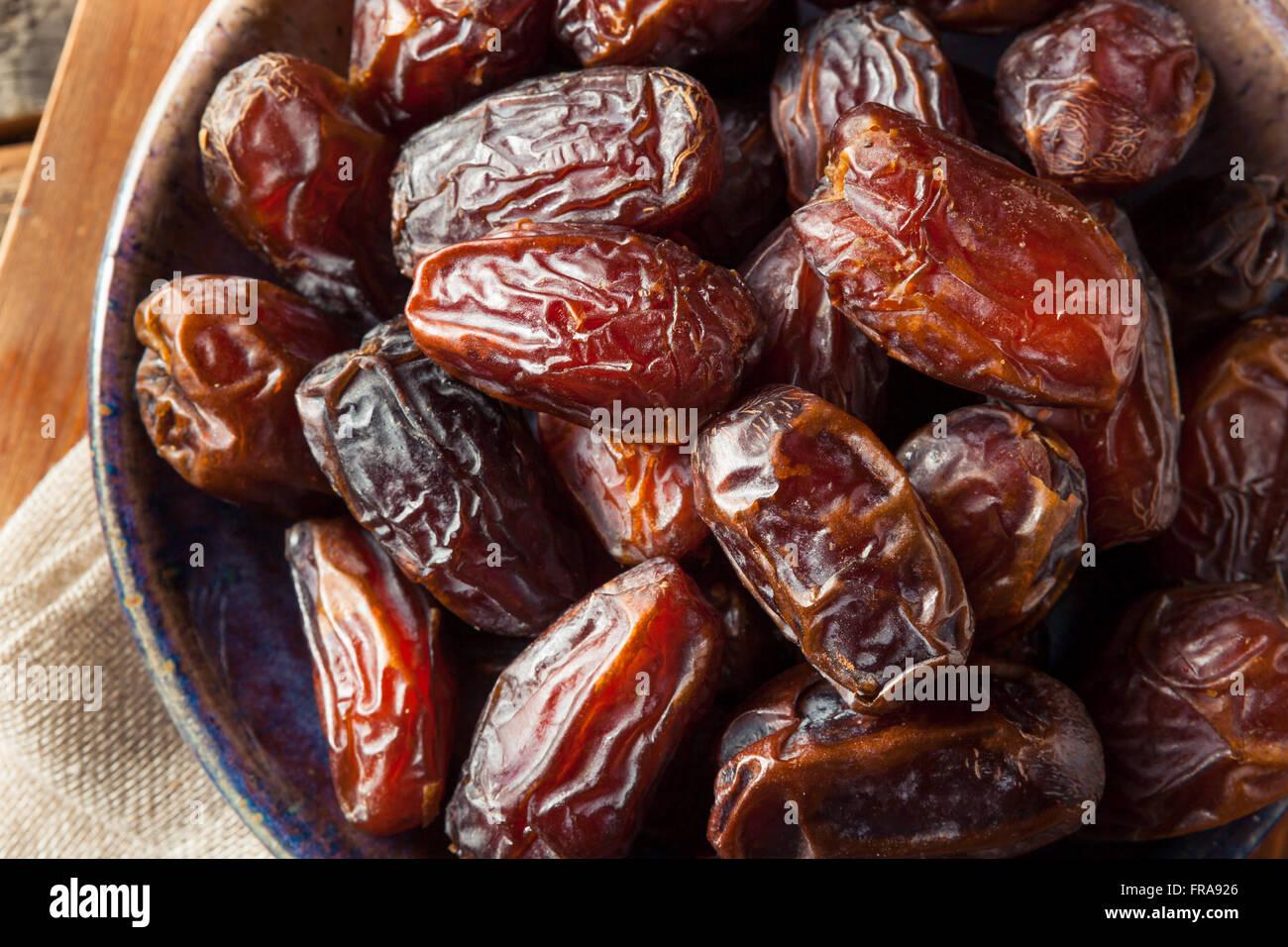 Raw Organic Medjool Dates Ready to Eat - Stock Image