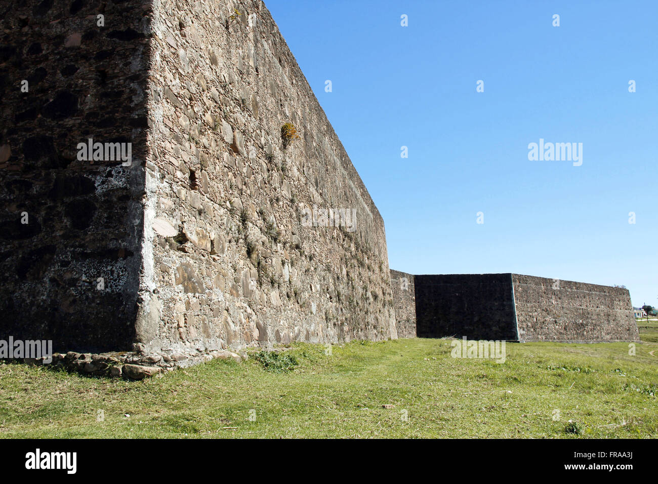 Ruins of Fort Dom Pedro II in a hexagonal polygon format - built in 1848 - Stock Image