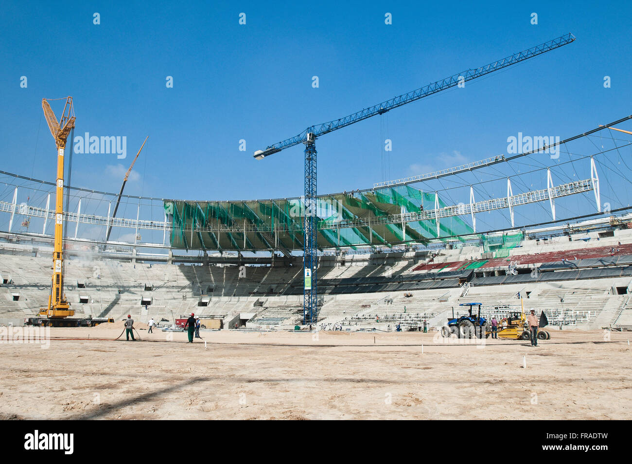 Estadio do Maracana in retirement for the World Cup 2014 - Stock Image