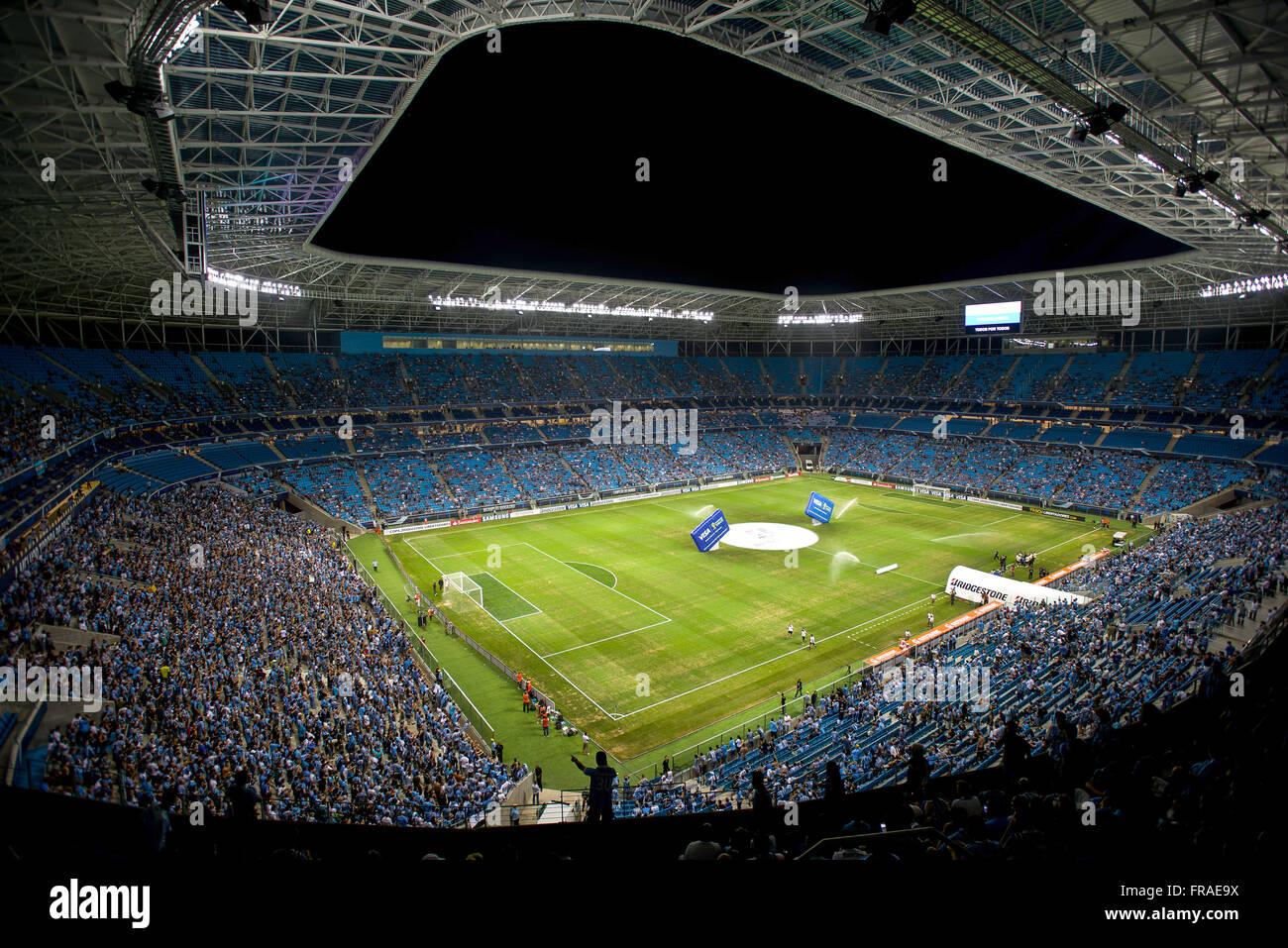 Football game at the stadium multipurpose arena complex Gremio - Stock Image