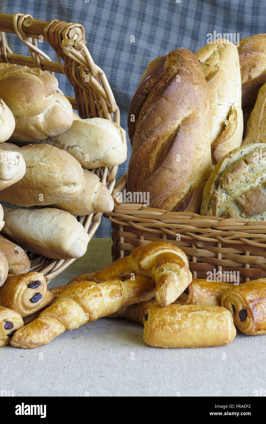 Varied kinds of breads - Stock Image
