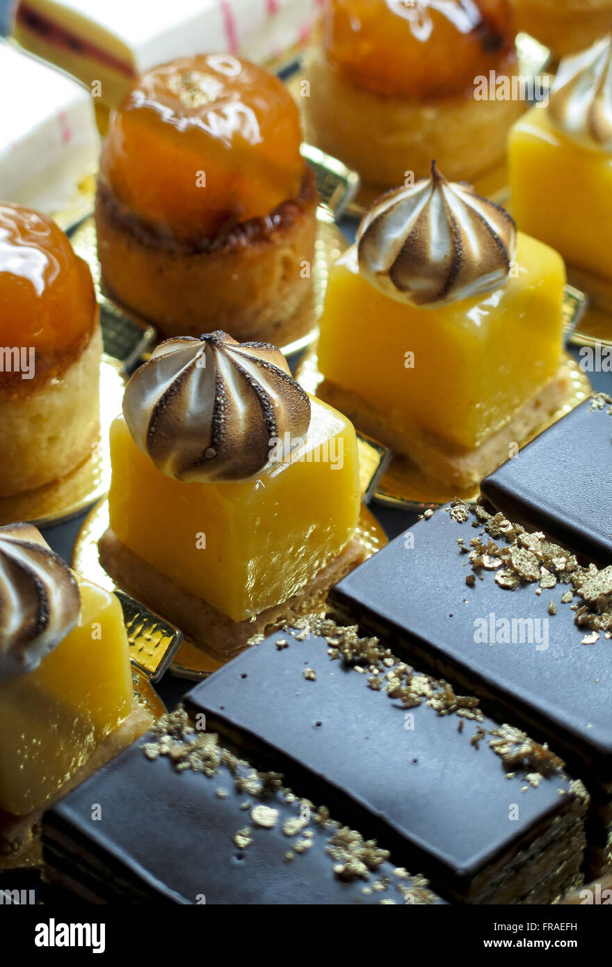 Sweets for sale in patisserie - Stock Image
