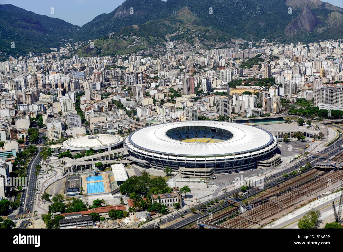 Maracana Sports Complex - Maracana stadiums, Maracanazinho and watery Julio Delamare - Stock Image