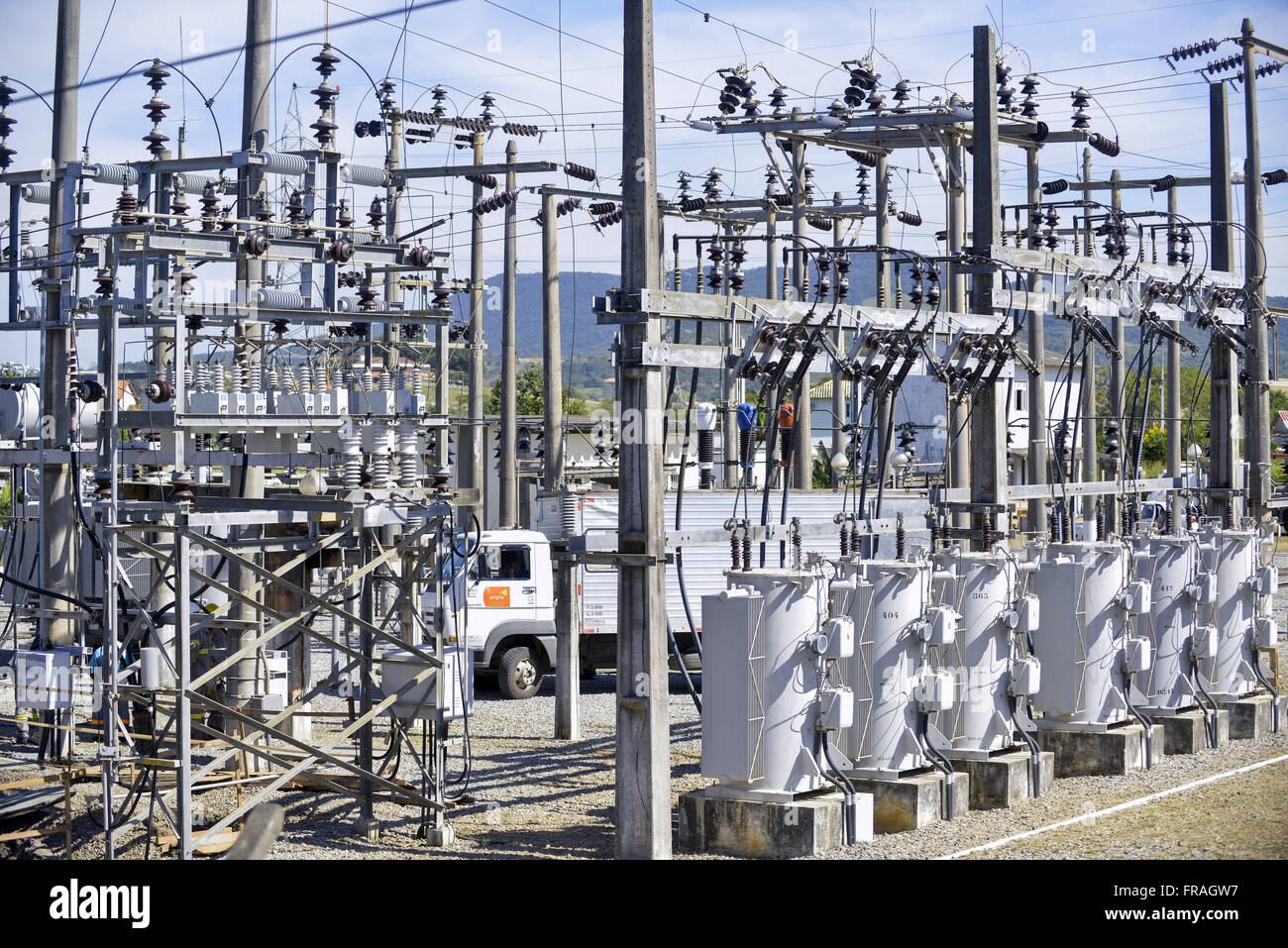 Substation AMPLA - Wide Energy and Services SA - Stock Image