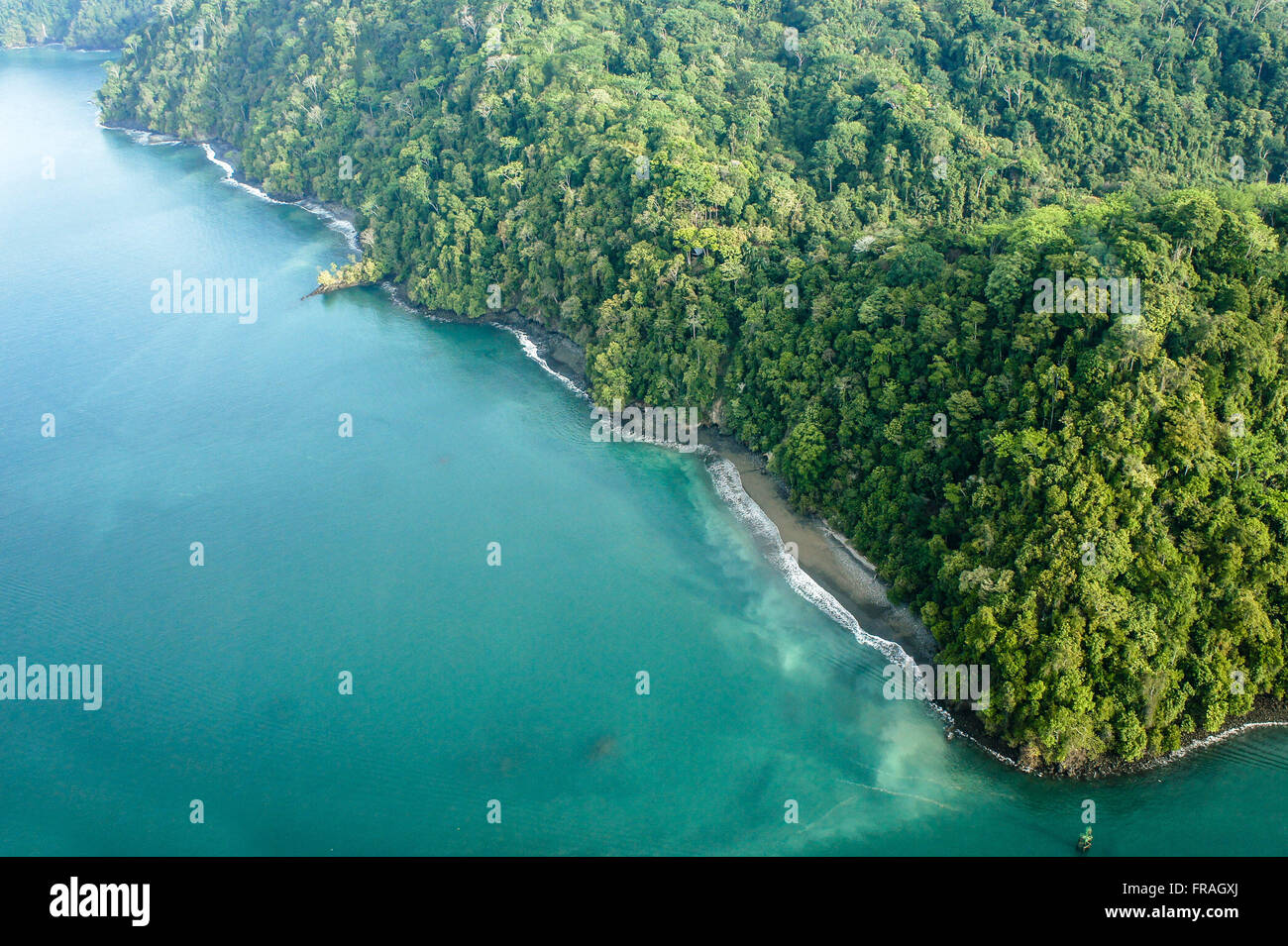 Aerial view of the Osa Peninsula - Stock Image