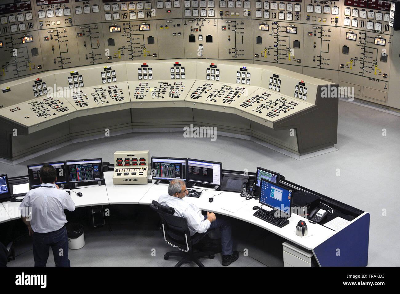 Room Central Command Itaipu dam - Itaipu - Stock Image