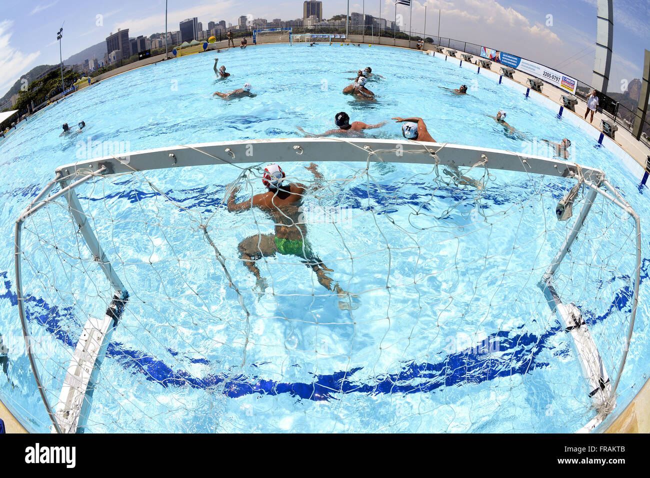 Water polo competition - Stock Image