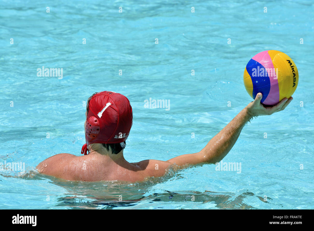 Player Water Polo - Stock Image